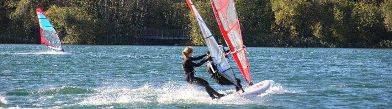 Windsurfing at Bray Lake